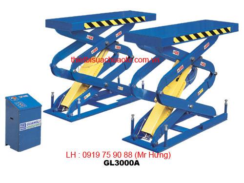Cầu nâng cắt kéo 4 bánh tự do