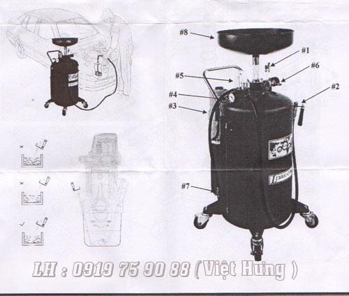 thiết bị hút dầu thải bằng khí nén